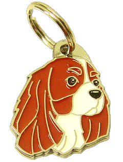 CAVALIER KING CHARLES SPANIEL BLENHEIM - pet ID tag, dog ID tags, pet tags, personalized pet tags MjavHov - engraved pet tags online